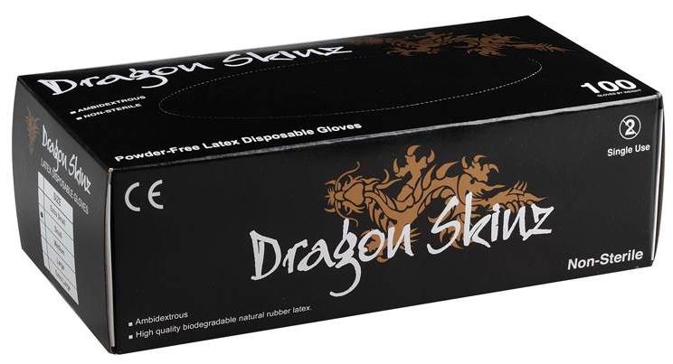 Gants Noire Dragon Skinz en latex  28337