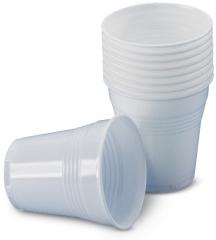 Gobelets en plastique blanc  600005