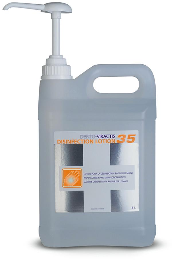 Gel antiseptique mains Dento-Viractis 35   Le bidon de 5 L 22883