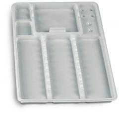 Plateaux jetables lisses avec compartiments  600059