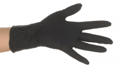 Gants Noirs Dragon Skinz en latex  28337