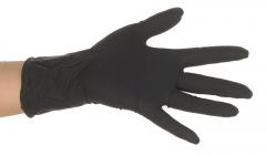 Gants Noirs Dragon Skinz en latex  28337