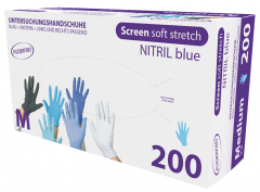 Gants nitrile bleu Screen Soft Stretch  28578