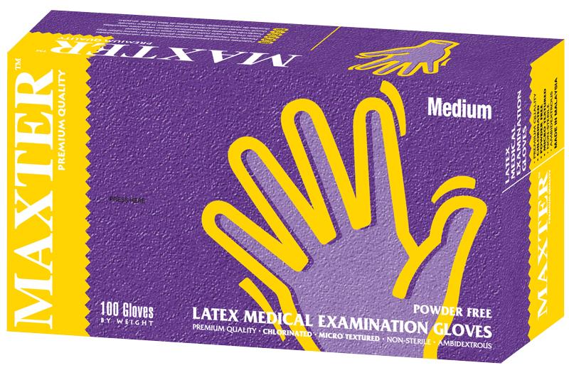 Gants d'examen en latex non poudrés  28589